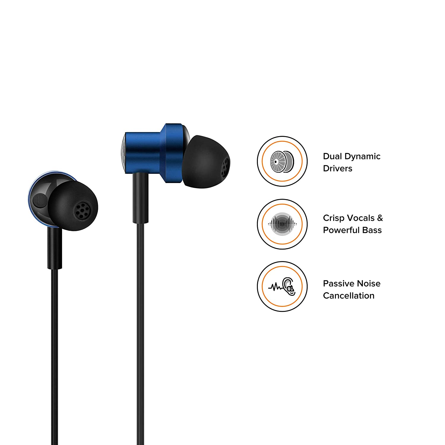 Mi Dual Driver In-ear Earphones  Unmatched High Definition Audio