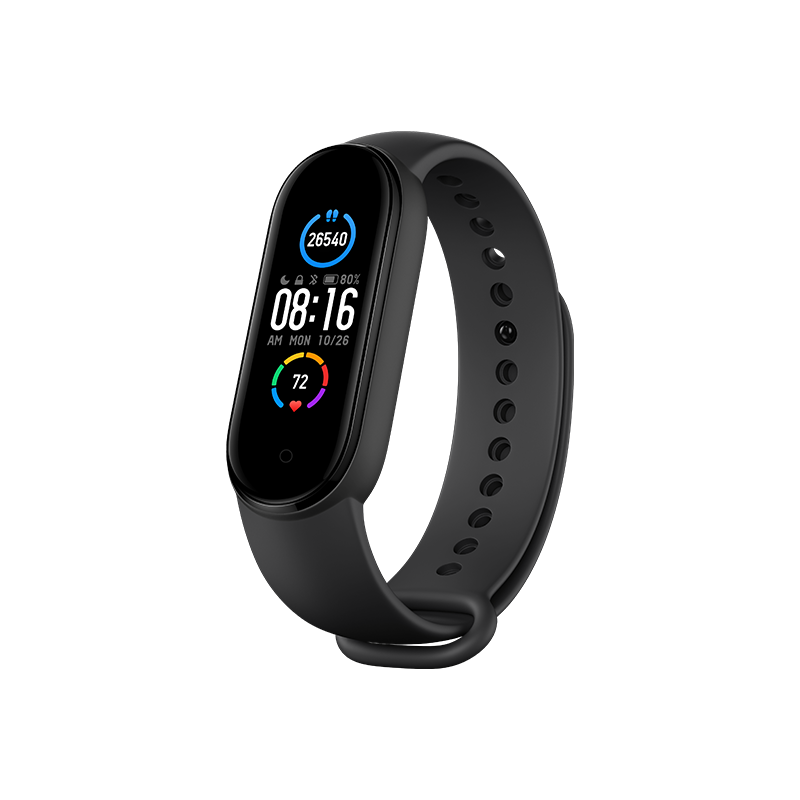 """Mi Smart Band 5- 1.1"""" AMOLED Color Display, 2 Weeks Battery Life, 5ATM Water Resistant"""